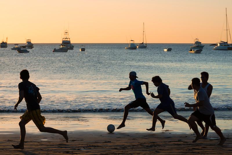 Soccer at sunset, San Juan del Sur, Nicaragua