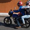 Cake transport on motorbike, Granada, Nicaragua