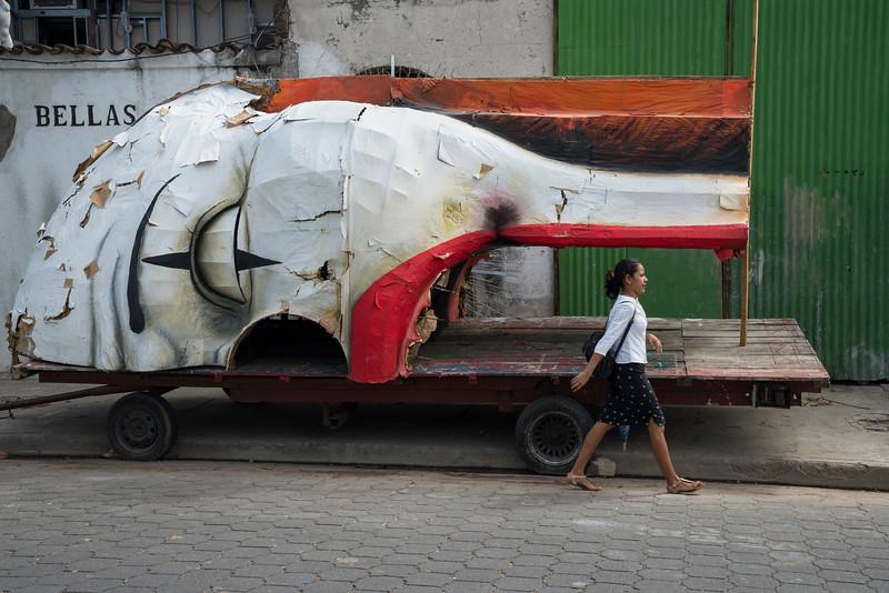 Decaying parade float, Granada, Nicaragua