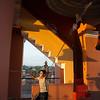 Boy rings church bells at Iglesia la Merced, Granada, Nicaragua