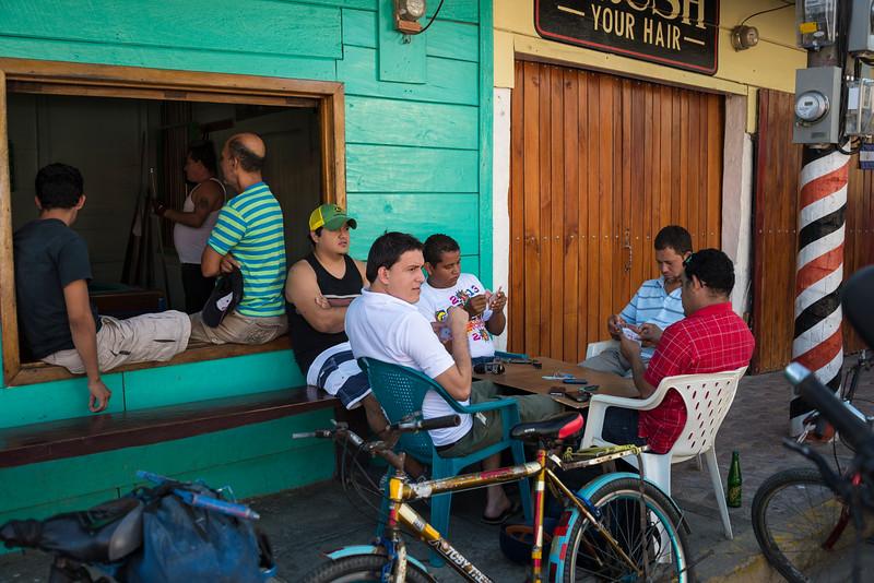 Men playing cards, San Juan del Sur, Nicaragua
