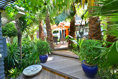 Tropical Gardens leading to suites