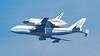 Shuttle Endeavor over Seal Beach, CA, flying Northwest toward Queen Mary in Long Beach, September 21, 2012, 12:30 PM