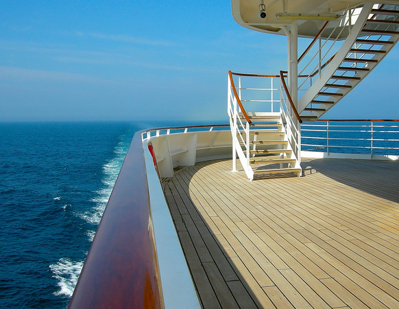 PROMANADE DECK AT THE STERN