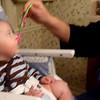 Nicholas's first feeding