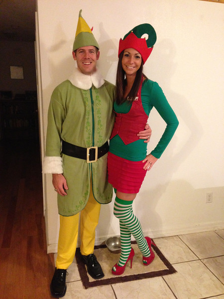 "Halloween as Buddy the Elf and Jovie from ""Elf""