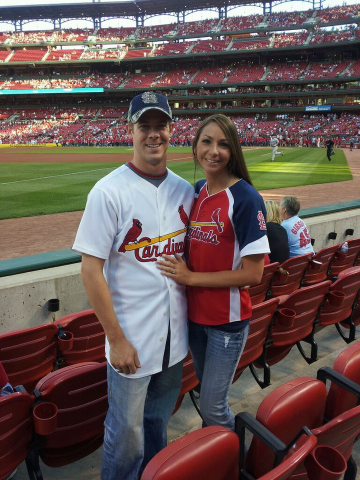 First Married Date...of course to a Cardinals game!  {June 2011}