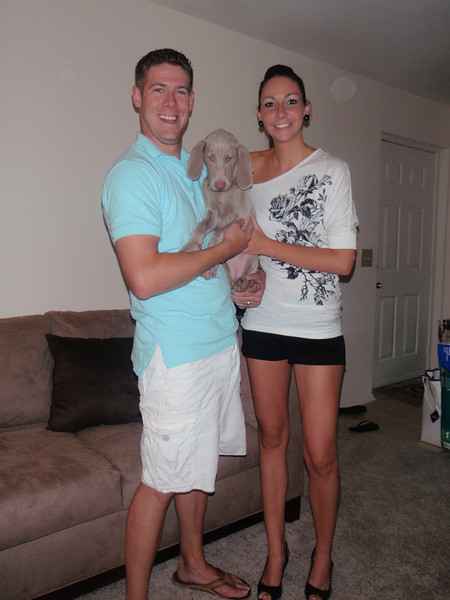 One Month Wedding Anniversary just days after getting our puppy, Yadi!  Annapolis, Maryland - July 11, 2011