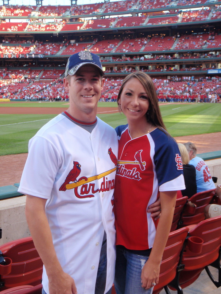 First Married Date...of course to a Cardinals game!
