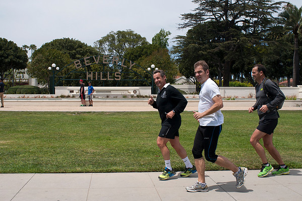 Nicolas Sarkozy, Jogging in Beverly Hills