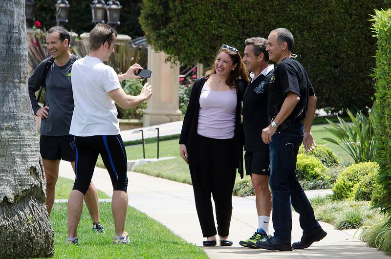 Nicolas Sarkozy, Jogging in Beverly Hills