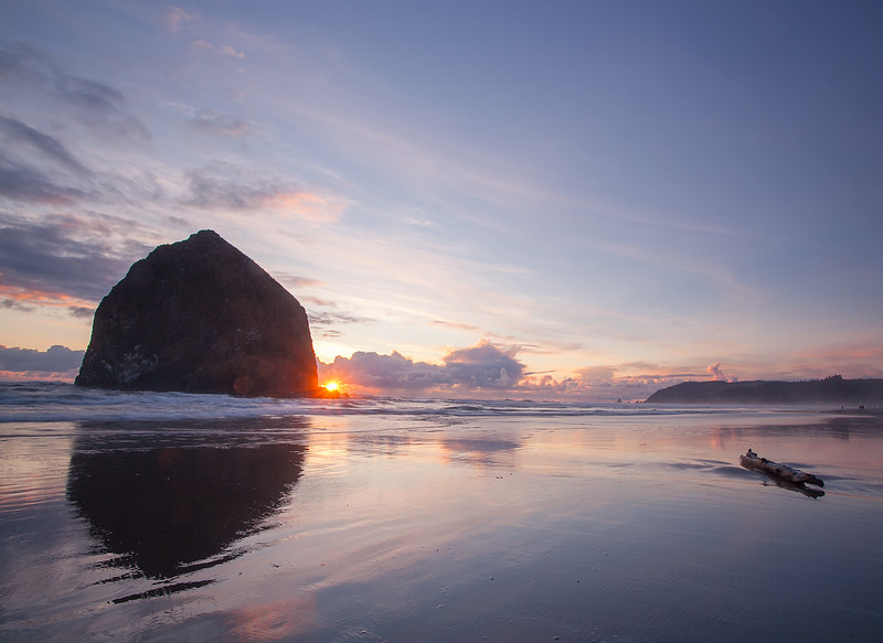 Reflection Bursts at Cannon Beach