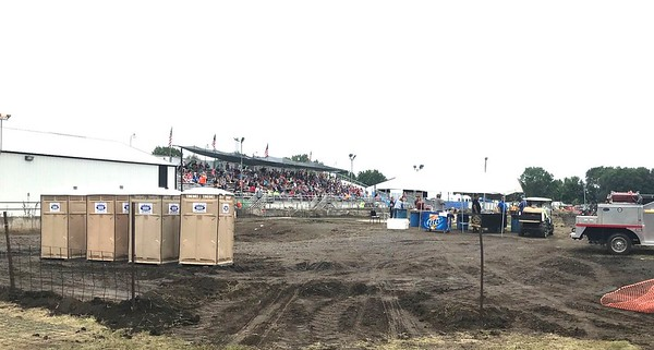 When I was here in 2011 they had a traditional county fair covered grandstand. I heard it got wiped out by a tornado.