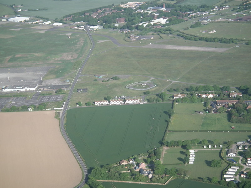 Manston, north side, where it grew from a quarter-mile square.