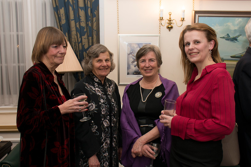 Georgie Hamilton, second left, one heck of a woman