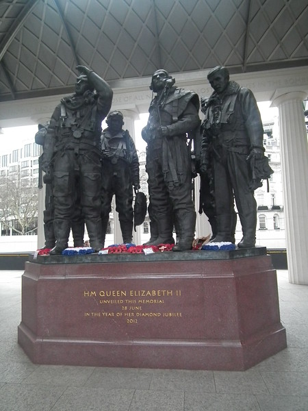 Bomber Command Memorial, opposite the RAF Club.