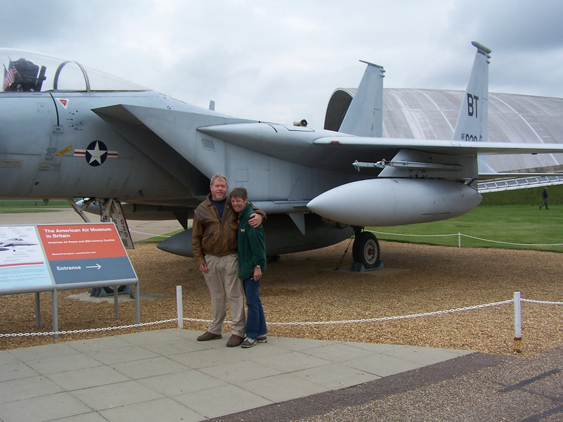 Richard, me, Duxford backdrop, taken by Don-the-Califronian-farrier