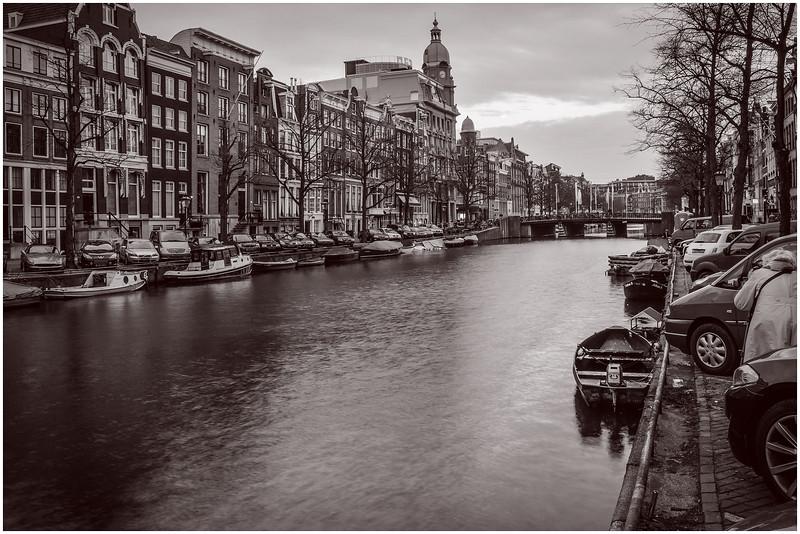 Amsterdam at Pre-dawn (cepia)