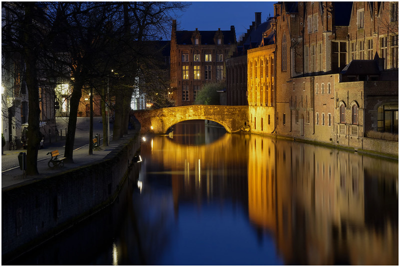 Bridge and Canal at Night