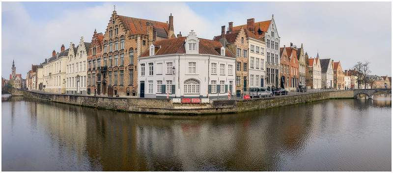 Canal Turning in the Morning (Panorama)