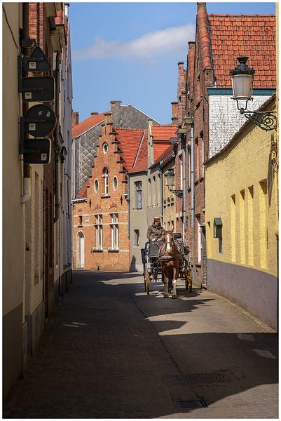 Carriage on a Narrow Street