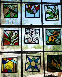 stained glass art at the art center