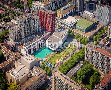 Bloementapijt Rotterdam Schouwburgplein