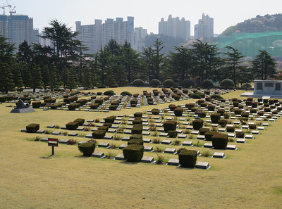 United Nations Memorial Cemetery. 117 Nederlandse graven.
