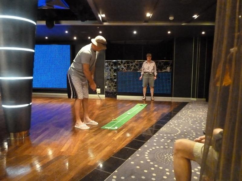 So I played mini golf instead.