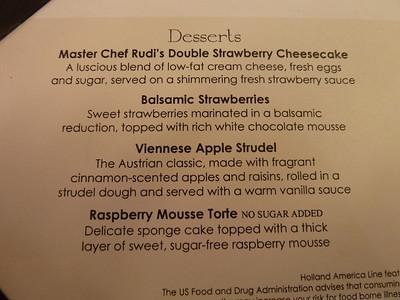 Desserts, night 1