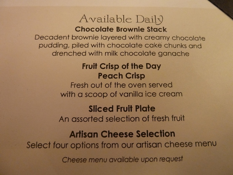 Always available desserts