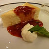 Master Chef Rudi's strawberry cheesecake with strawberry sauce