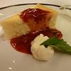 Master Chef Rudi's strawberry cheesecake with strawberry sauce