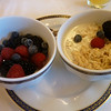 Swiss style muesli and mixed berries<br /> <br /> Okay, I have two loves.