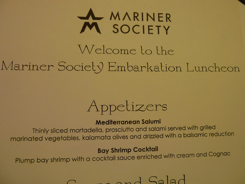 Embarkation day lunch