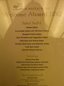 Welcome aboard BBQ menu
