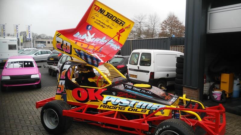 Nieuwe stockcar Lourens de Vries
