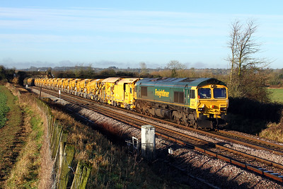 66501 6c72 0820 Fairwater Yard to Westbury pass Penleigh 10 Jan