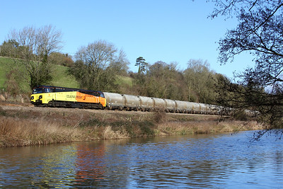 70816 6c36 Westbury to Aberthaw pass Avoncliff 9 Feb