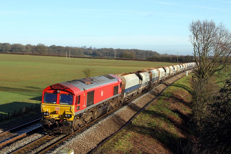 66185 4v33 0718 Wembley Yard to Whatley pass Berkley Marsh 10 Jan