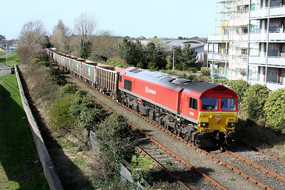 59205 7v52 1315 Hamworthy to Whatley heading for the runround 2 March