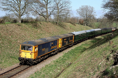 73107 73119 1015 East Grimstead to Sheffield Park at Foxfield Bank 2 April
