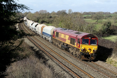 66069 6m20 1037 Whatley to St Pancras pass Great Cheverell 16 Feb