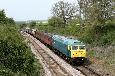 47367 Dereham to Wymondham Abbey pass Hardingham 30 April