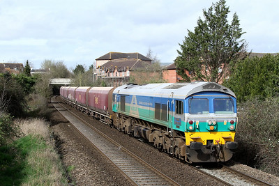 59001 6a83 Avonmouth Bennets Sidings to West Drayton ARC v Westbury passing Dursley Rd 17 March