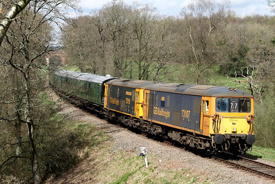 73107 73119 1425 East Grimstead to Sheffield Park pass Foxfield Bank 2 April
