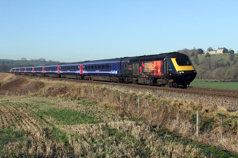 43172 leading 43002 on 1a15 Bristol Temple Meads to Paddington pass Newton Meadows 5 Jan