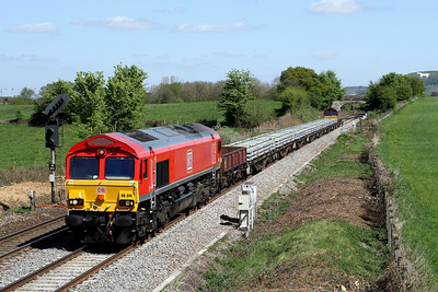 66041 6w11 1440 Westbury to Bristol East Jn pass Penleigh 22 April