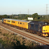 37608 1q05 0824 Tyseley LMD to Bristol High Level Sidings v Weymouth pass Berkley Marsh 7 Sept