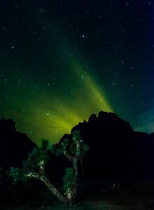 Light Pollution glow in Night Sky